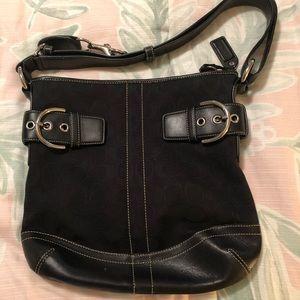 COACH initial shoulder bag- Black